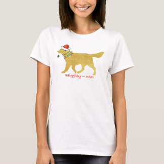 Christmas Golden Retriever Naughty but Nice T-Shirt