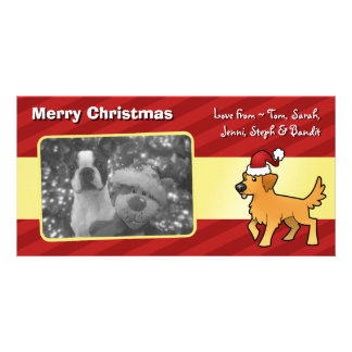 Christmas Golden Retriever Photo Card