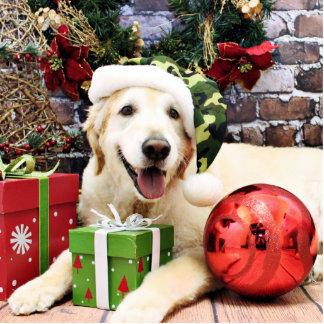 Christmas - Golden Retriever - Sam Photo Sculpture