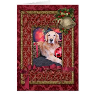 Christmas - Golden Retriever - Sky Greeting Card