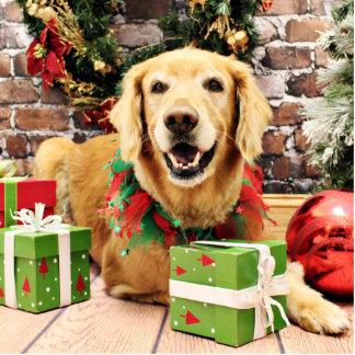 Christmas - Golden Retriever - Stryder Photo Sculpture