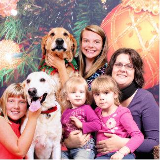Christmas Golden Retriever Wrigley - Labrador Ally Standing Photo Sculpture