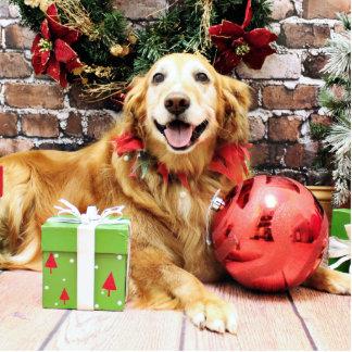 Christmas - Golden Retriever - Wrigley Photo Cutout