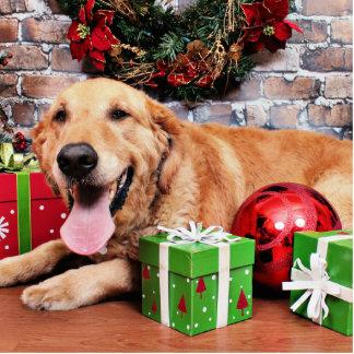 Christmas - Golden Retriever - Wrigley Photo Cutouts