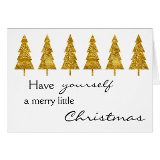 Christmas golden trees card