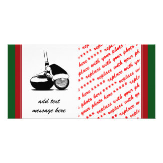 Christmas Golf Ball   and Club Card