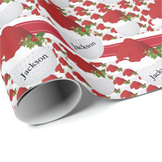 Christmas Golf   DIY Text Wrapping Paper