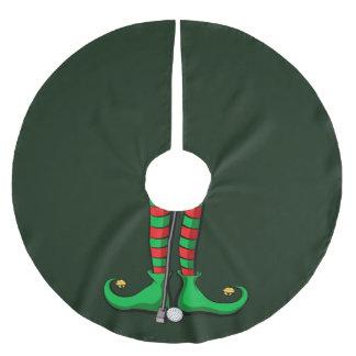 Christmas Golf Elf Feet Brushed Polyester Tree Skirt
