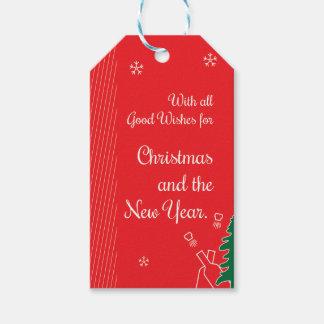Christmas Good Wishes Gift Tags