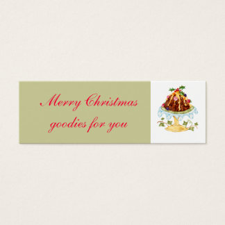 Christmas goodies gift tag