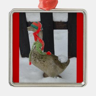 Christmas Goose Metal Ornament