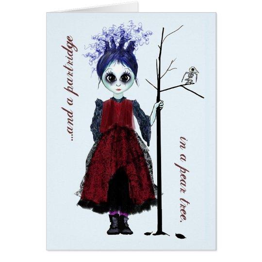 Christmas goth girl card