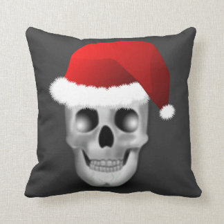 Christmas Goth Skull Santa Claus Cushion