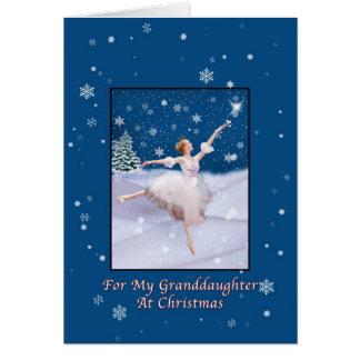 Christmas, Granddaughter, Snow Queen Ballerina Greeting Cards