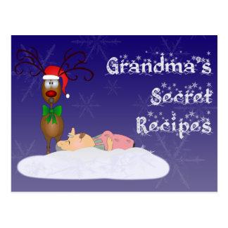 Christmas Grandma Recipe Card Postcard