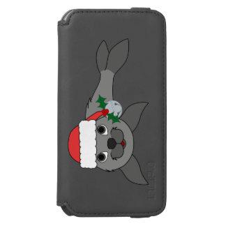 Christmas Gray Seal with Santa Hat & Silver Bell Incipio Watson™ iPhone 6 Wallet Case