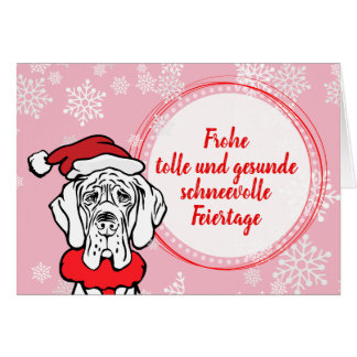 Christmas Great Dane Cards Pattern