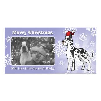 Christmas Great Dane Customised Photo Card