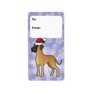 Christmas Great Dane Gift Tags
