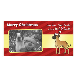 Christmas Great Dane Personalised Photo Card