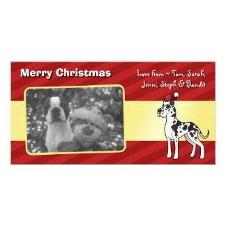 Christmas Great Dane Photo Greeting Card