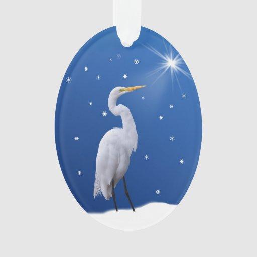 Christmas, Great Egret Bird, Star, Religious
