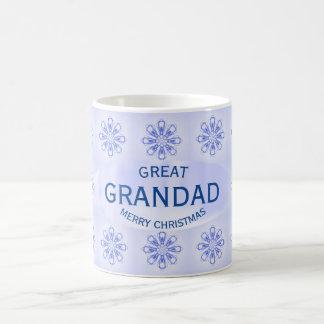 Christmas Great Grandad Blue Snowflake Mug by Janz