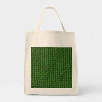 Christmas Green Burlap Bag