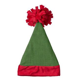 Christmas Green Burlap Santa Hat