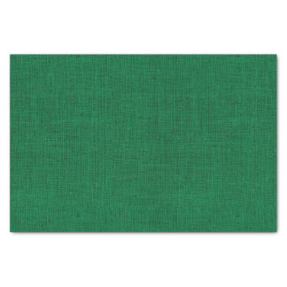 Christmas Green Burlap Texture Tissue Paper