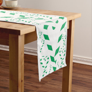 Christmas Green Candy Cane Table Runner