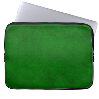 Christmas Green Dark Textured Parchment Template Laptop Sleeves