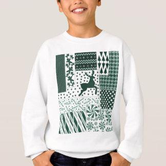 Christmas Green Quilt Sweatshirt