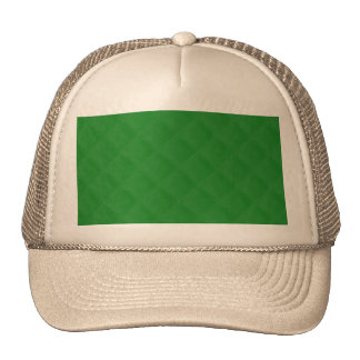 Christmas Green Quilted Pattern Trucker Hats
