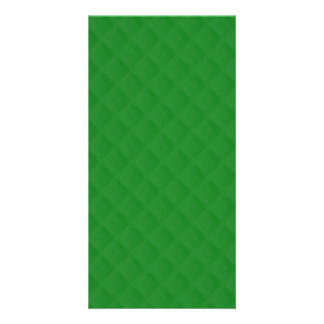 Christmas Green Quilted Pattern Photo Card Template