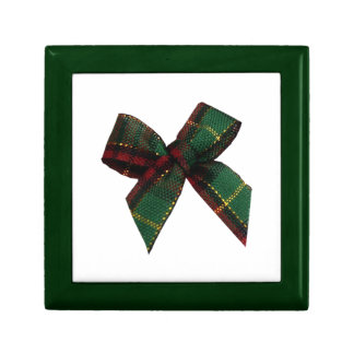 CHRISTMAS GREEN RED BOW GIFT BOX