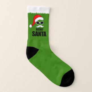 Christmas Green secret Santa socks 1