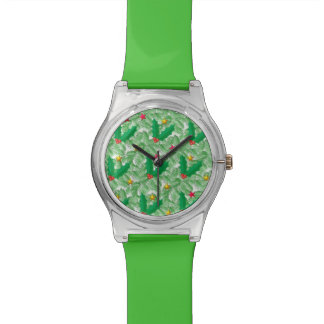Christmas Green Spruce and Red Holly Watch