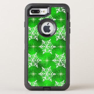 Christmas green white snowflake iPhone 7 plus