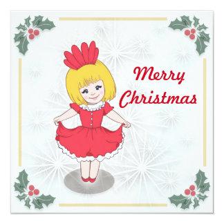 Christmas greeting card 13 cm x 13 cm square invitation card