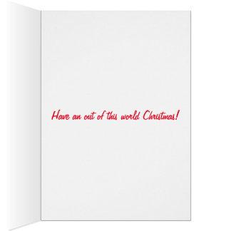 Christmas greeting card. card