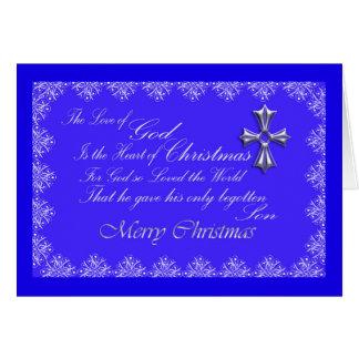 Christmas Greeting Card/Cross-Blue Card