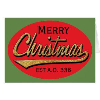 "Christmas Greeting Card/Envelope ""Retro Christmas"" Card"
