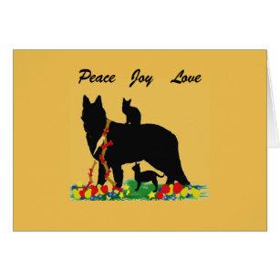 German shepherd christmas cards invitations zazzle christmas greeting card german shepherd m4hsunfo
