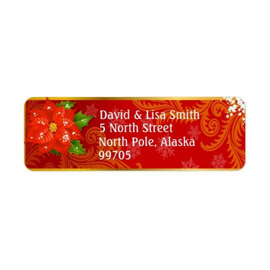 Christmas Greeting Card Return Address Labels