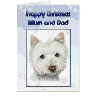 christmas greeting card to mum and dad with cute w