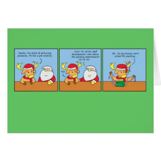 Christmas Greeting Card with Funny Comic Strip