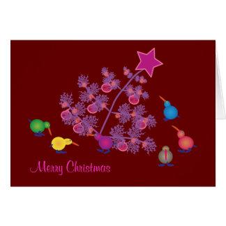 Christmas Greeting cards: Kiwi Card