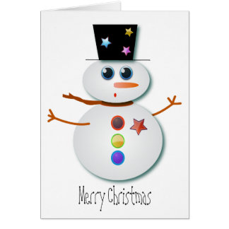 Christmas Greeting cards: Mr Snowman Card