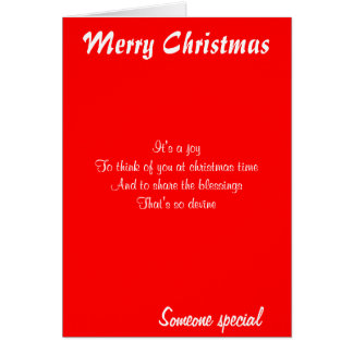 Christmas greeting cards-someone special card